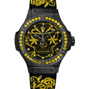 Replique Montre Hublot Big Bang Broderie Sucre Crane Fluo Sunflower 41mm Hommes 343.CY.6590.NR.1211
