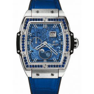 Replique Montre Hublot Spirit Of Big Bang Moonphase Titane Dark Bleu 647.NX.5171.LR.1201