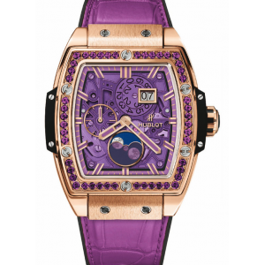 Replique Montre Hublot Spirit Of Big Bang Moonphase Roi Or Violet 647.OX.4781.LR.1205
