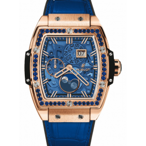 Replique Montre Hublot Spirit Of Big Bang Moonphase Roi Or Dark Bleu 647.OX.5181.LR.1201