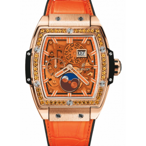 Replique Montre Hublot Spirit Of Big Bang Moonphase Roi Or Orange 647.OX.5381.LR.1206