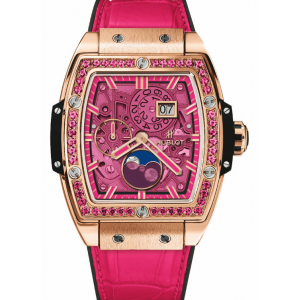Replique Montre Hublot Spirit Of Big Bang Moonphase Roi Or Rose 647.OX.7381.LR.1233