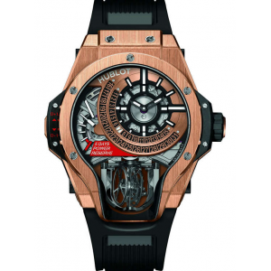 Replique Montre Hublot Masterpiece MP-09 Tourbillon Bi-Axis Roi Or 909.OX.1120.RX
