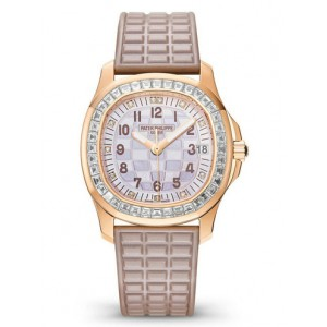 Replique Montre Patek Philippe Aquanaut Rose Or Dames 5072R-001