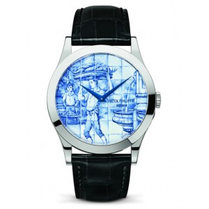 Replique Montre Patek Philippe Calatrava Enamel The Porter 5089G-061