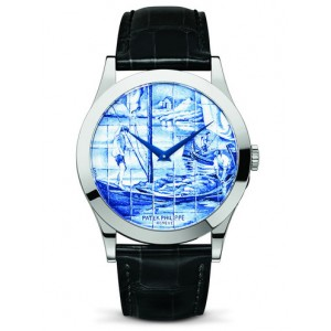 Replique Montre Patek Philippe Calatrava Enamel The Barge 5089G-062