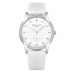 Replique Montre Patek Philippe Calatrava Blanc Or Dames 7122/200G-001