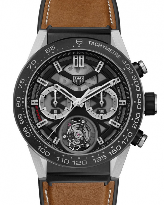 Replique Montre Tag Heuer Carrera Calibre Heuer 02T Tourbillon Chronographe 45mm Hommes CAR5A8Y.FT6072