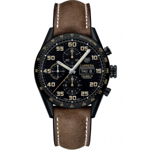 Replique Montre Tag Heuer Carrera Calibre 16 Day-Date Chronographe Noir Titane CV2A84.FC6394